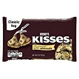 Hershey's Kisses Milk Chocolate With Almonds, 311g, Free Hand Made Bandhani Pooja Thali