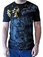 Emperor Eternity Japanese Tattoo Art MMA T Shirt Koi Carp Design Mens Fashion