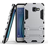 A3(2016) Coque,EVERGREENBUYING Ultra Slim léger 2 en 1 SM-A3100 Cases Housse Etui Premium Kickstand Bumper Hard Shell Back Coque Case Pour Samsung Galaxy A3 (2016) /A310 Argent