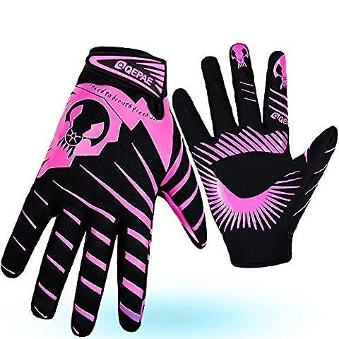 GYUSHU Cycling Gloves Mountain Bike Road Racing Light Silicone Gel Pad Full Finger Riding Men Women Anti-slip Windproof Sports , as figure ,