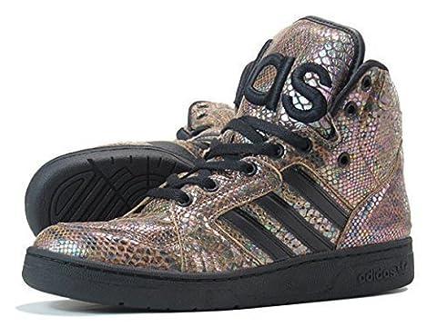 adidas Jeremy Scott Herren Sneakers JS INSTINCT HI RAINBOW Braun/Regenbogen G95753, Groesse Eur:44