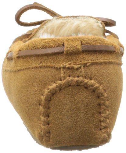 Minnetonka 4010 Cally Slipper, Damen Hausschuhe Beige (Cinnamon)
