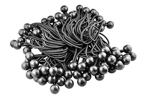 SE BC6B-100 6 Bungee Stretch Cord with Ball , Black by SE -