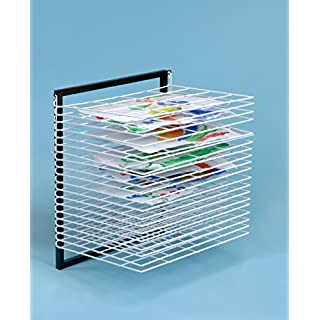 20 Shelf Wall Mounted Paint Drying Rack / Childrens Paint Dryer- A1162