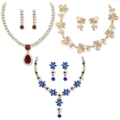 Zaveri Pearls Ethnic Choker Necklace for Women (Golden) (ZPFK6503)