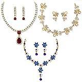 #8: Zaveri Pearls Ethnic Choker Necklace for Women (Golden) (ZPFK6503)