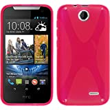 PhoneNatic Custodia per HTC Desire 310 Cover rosa caldo X-Style Desire 310 in silicone + pellicola protettiva