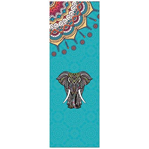 Cayuan Toalla de Yoga, Pilates, Fitness Microfibra Antideslizante Absorbente Mat Toalla Elefantes...