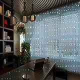 Weiße USB-gesteuerte 3x3M 300 LED Eiszapfen Vorhang Deko Lampe aus ferngesteuertem hängendem Vorhang Licht für Schlafzimmer Hochzeitsdekoration