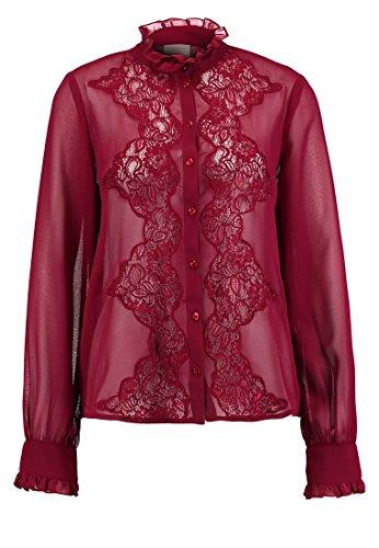 VERO MODA VMCLASSY Damen Hemdbluse Hemd Bluse - zinfandel Grösse XL