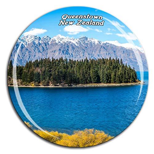 Lake Wakatipu Queenstown Neuseeland Kühlschrankmagnet 3D Kristallglas Tourist City Travel Souvenir Collection Geschenk Stark Kühlschrank Aufkleber