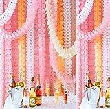t-antrix wiederverwendbar zum Aufhängen Girlande Kleeblattes Seidenpapier Blume Party Girlanden für Weihnachten/Party/Hochzeit Dekorationen (je 10Füße/3M Lang),6Stück