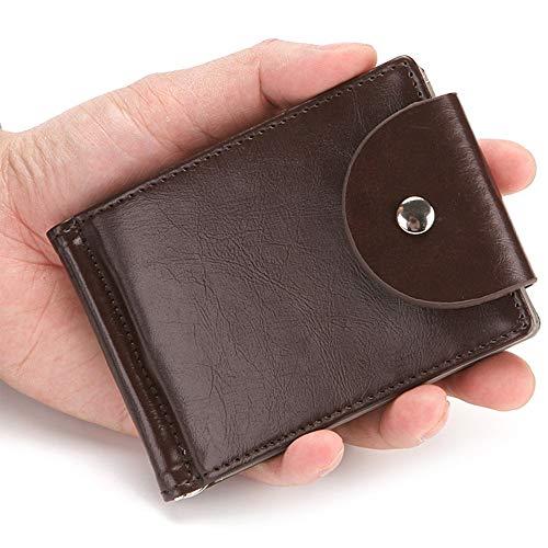 nztüte Herren Leder Reißverschluss Wechsel Inhaber Slim Wallet einfach (Color : Brown, Size : S) ()