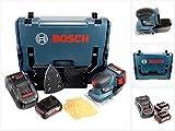 Bosch Professional GSS 18 V-10 Akku Schwingschleifer in L-Boxx + 2 x GBA 5,0 Ah Akku + GAL 1880 Schnellladegerät