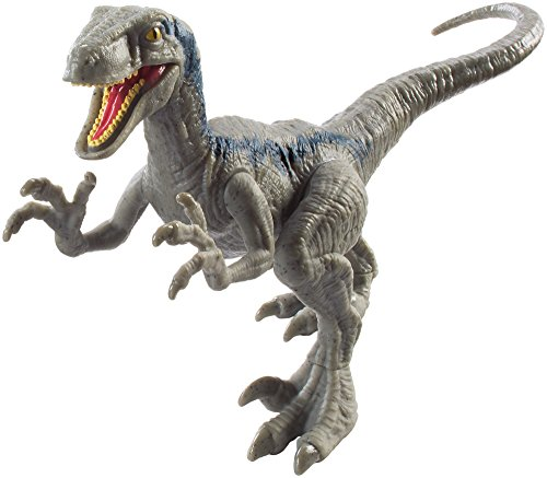 Jurassic World Dinosaurio Velocirraptor de ataque, color azul (Mattel FPF12)