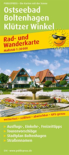 Preisvergleich Produktbild Ostseebad Boltenhagen - Klützer Winkel: Rad- und Wanderkarte mit Ausflugszielen, Einkehr- & Freizeittipps, wetterfest, reissfest, abwischbar, GPS-genau. 1:30000 (Rad- und Wanderkarte / RuWK)
