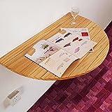 KFXL zhuozi Klapptisch Massivholz-Esstisch Wand-Schreibtisch Halbrunde Wand mit Tisch 40 * 12cm (Farbe : Holzfarbe)