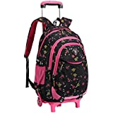bolsa de escuela mochila de escuela ruedas chica niña nailón impermeable desmontable para alumnas la escuela primaria