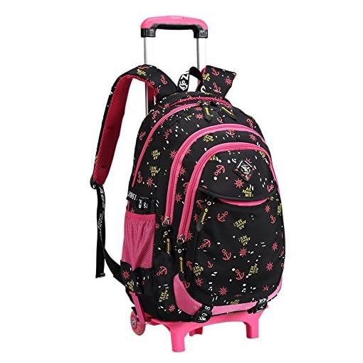 fe7f5837ab Zaino trolley scuola per bambina ragazze Studenti Capretti Scuola Primaria