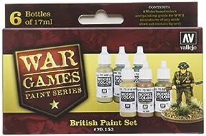 Vallejo Model Color Set - WWII Wargames - British Paint Set
