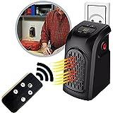 Takestop® Nueva versión Estufa Eléctrica 400W Handy portátil con mando a distancia conector Toma eléctrica ajustable Heater de 15a 32° bajo consumo baño casa oficina