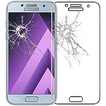 ebestStar - para Samsung Galaxy A3 2017 A320F [Dimensiones PRECISAS de su aparato : 135.4 x 66.2 x 7.9 mm, pantalla 4.7''] - Película de VIDRIO templado CURVADO contra rotura, contra Rayas (protección integral, cobertura completa de las extremidades Rojoondeadas o curvadas de la pantalla), Color Transparente