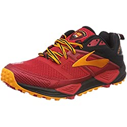 Brooks Cascadia 12, Scarpe da Trail Running Uomo, Rosso (Red/Black/Orange 1D663), 43 EU