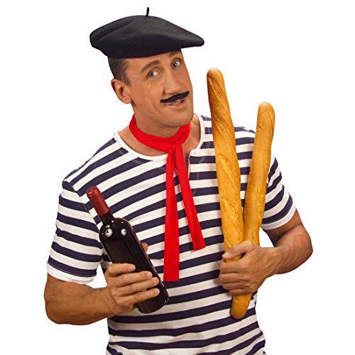 Kopfbedeckung Kostüm Zubehör - NET TOYS Baskenmütze Hut Franzose Franzosenhut Basken Mütze Franzosen Hut Baske Kopfbedeckung Ingo Frankreich Kostüm Zubehör