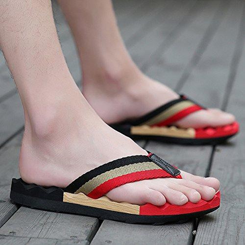 Tongs d'été pour hommes, chaussures de plage personnalisé, massage des pieds, des chaussures, men's tide, été chaussons anti-dérapants, men's grands chantiers Bee - Black