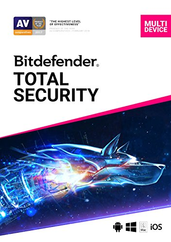 Price comparison product image Bitdefender Total Security / Download / Standard 1 Year / 5 Devices / 1 Year / PC / Mac / Online Code
