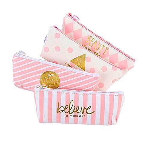 fablcrew Fashion Bleistift Fall Cosmetic Gläser Tasche Make-up Tasche Home School Office Supplies Set of 4