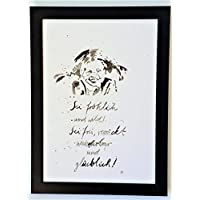 Pippi Langstrumpf Poster, Bild, Plakat A4, handgemaltes Aquarell ohne Rahmen