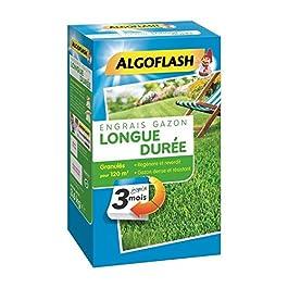 ALGOFLASH Engrais Gazon Longue Durée 3 Mois, 3 kg, EG3M120