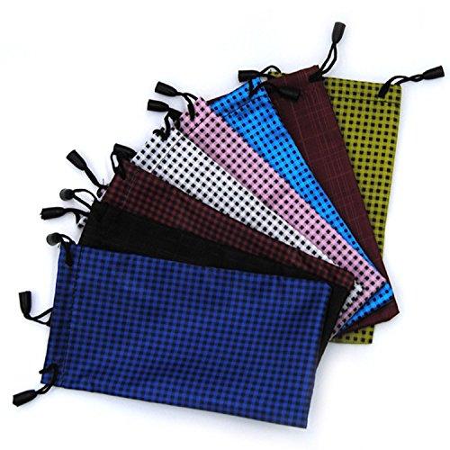 Vococal - 10 Stk Sonnenbrillen / Brillen / Rasierer Aufbewahrungstasche Tasche - Punkte Muster - Microfiber Drawstring Reinigung Aufbewahrungstasche Tasche, Zufällige Farbe