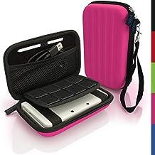 igadgitz Rosa EVA Rígida Funda Carcasa para Nuevo Nintendo 3DS XL (Todas las Versiones) & 2DS XL 2017 Viaje Case Cover con Correa