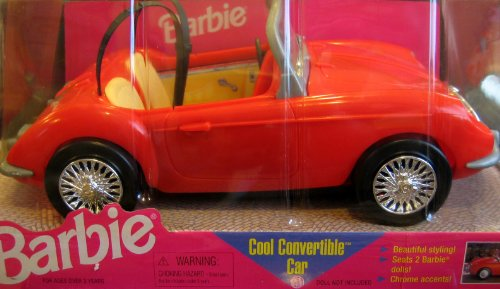 Barbie Cool Convertible Car - Sports Coupe w Chrome Accents (1998 Arcotoys, Mattel)