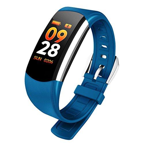 Fuibo Smartwatch, Smart Watch Armband Armband Fitness Sport Blutdruck Pulsmesser Intelligente Armbanduhr Sport Fitness Tracker Armband (Blau)