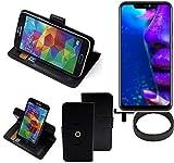 K-S-Trade® Hülle Schutzhülle Case Für -Allview Soul X5 Pro- + Bumper Handyhülle Flipcase Smartphone Cover Handy Schutz Tasche Walletcase Schwarz (1x)