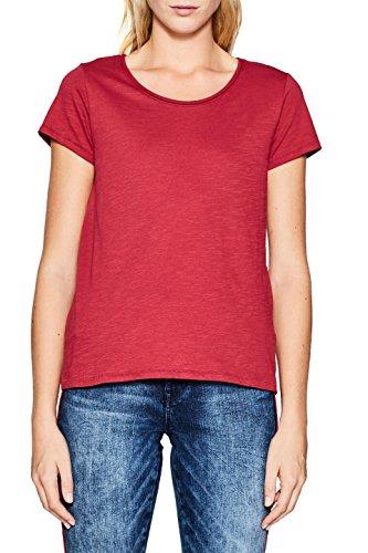 ESPRIT Damen T-Shirt 997EE1K804, Rot (Cherry Red 615), Large (Cherry Shirt Damen)