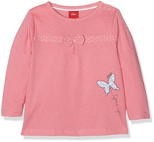 s.Oliver Baby-Mädchen Langarmshirt 65.708.31.7249, Rosa (Coral 4354), 86