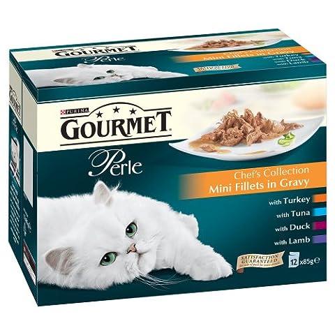 Gourmet Perle Mini Filets en Sachets Fraîcheur - Chat 48 x 85g - Chefs Selection en sauce -