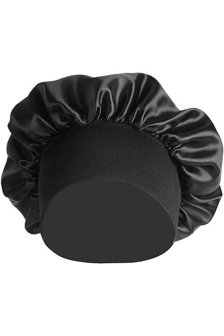 Deanyi Shower Cap Waterproof Hair Satin Bonnet For Sleeping Shower Cap Silk Bonnet Bonnet Femme Women Cap Cover Wide Elastic Band for Lady Man Turban