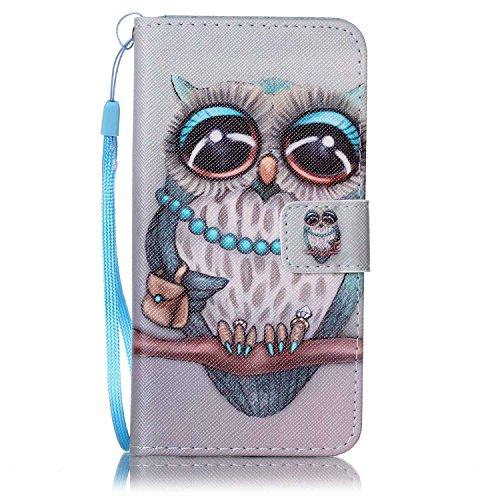 Qiaogle Telefon Case - PU Leder Wallet Schutzhülle Case für Apple iPhone 6 / iPhone 6S (4.7 Zoll)) - YB42 / Traumfänger YB44 / Dame Eule