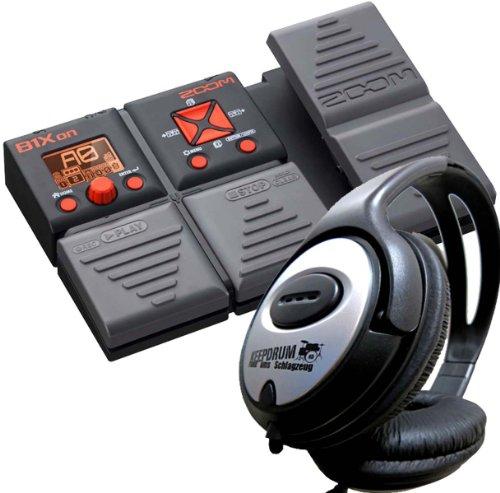 Zoom B1Xon Multieffektgerät für Bass + KEEPDRUM Kopfhörer GRATIS!