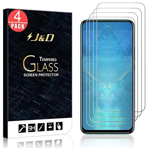 Smart Protector (J&D kompatibel für Huawei P Smart Z Glas Displayschutzfolie [gehärtetes Glas] [Nicht volle Abdeckung] HD Klar Ballistic Glass Displayschutzfolie für Huawei P Smart Z Displayschutzfolie)
