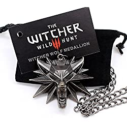 Giftandpresent The Witcher 3Wild Hunt Médaillon en forme de tête de loup + collier original