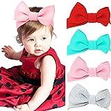 Vamei bébé bandeaux Floral tissu noeud élastique filles bandeaux pour enfant en bas âge enfants anniversaire douche parti (Papillon1)