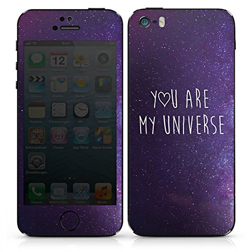 Apple iPhone SE Case Skin Sticker aus Vinyl-Folie Aufkleber Spruch Liebe Freundschaft DesignSkins® glänzend