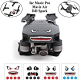 Crazepony-UK Mavic Pro Sticker Decal Skin Guard, Mavic Air / DJI Spark Skin Sticker Decal, Battery Number Sticker Shark face Decal Drone Sticker 3M Waterproof DJI Drone Accessories