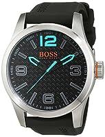 BOSS Orange 1513377 - Reloj de Pulsera para Hombre PARÍS analógico, de Cuarzo, Cuero, Silicona de BOSS Orange